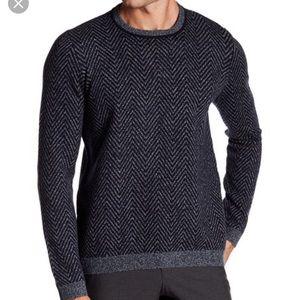 Ted Baker, men's Uncle herringbone sweater, navy